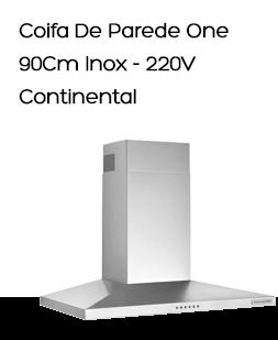 Coifa De Parede Continental One COCO090LPA2IN 90Cm Inox - 220V