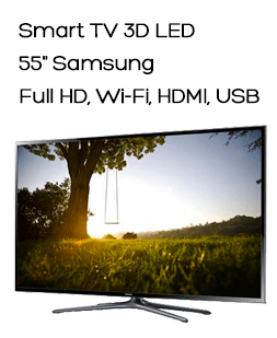 "Smart TV 3D LED 55"" Samsung, Full HD, Wi-Fi, 4 HDMI, 3 USB e 2 Óculos 3D - UN55F6400AGXZD"