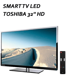 Smart TV LED Toshiba 32'' HD, Conversor Digital Integrado, USB, HDMI - 32L2400