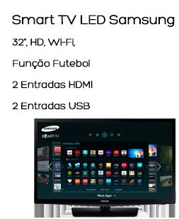 Smart TV LED Samsung 32, HD, Wi-Fi, Função Futebol, 2 Entradas HDMI e 2 Entradas USB - UN32H4303AGXZD