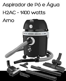 Aspirador de Pó e Água H2AC 1400W com Capacidade para 12L de Água - ARNO