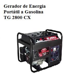 Gerador de Energia Portátil a Gasolina TG 2800 CX - Bivolt - TOYAMA