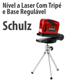 Nível a Laser Com Tripé e Base Regulável - Schulz