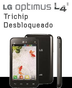 LG Optimus L4 II Tri Chip E470 Preto