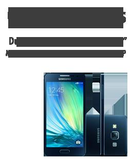 """SmartPhone Samsung Galaxy A3 Duos, Tela 4,5"""", Processador Quad Core 1.2 GHz, 4G, Dual Chip, Android 4.4, 16GB, 1GB de RAM, WiFi, Bluetooth, Câmera 8.0"""