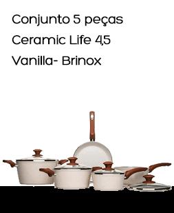 Conjunto 5 pçs Ceramic Life 4,5 Vanilla- Brinox