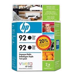Mania Virtual Cartucho HP 92 Twin Pack Preto (Pack com 2 C9362wl) 5,5Ml - C9512FL