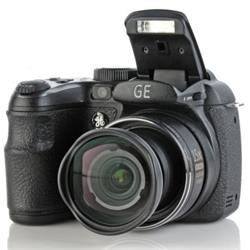 "Mania Virtual Camera Digital GE X5 Preta - 14.1 Megapixels, LCD 2,7"", 15x Zoom Optico"